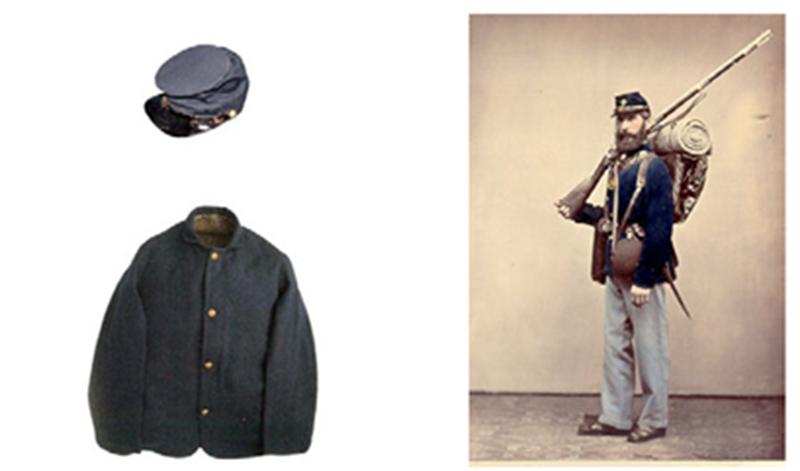 1862년 북군(Union Army)이 입던