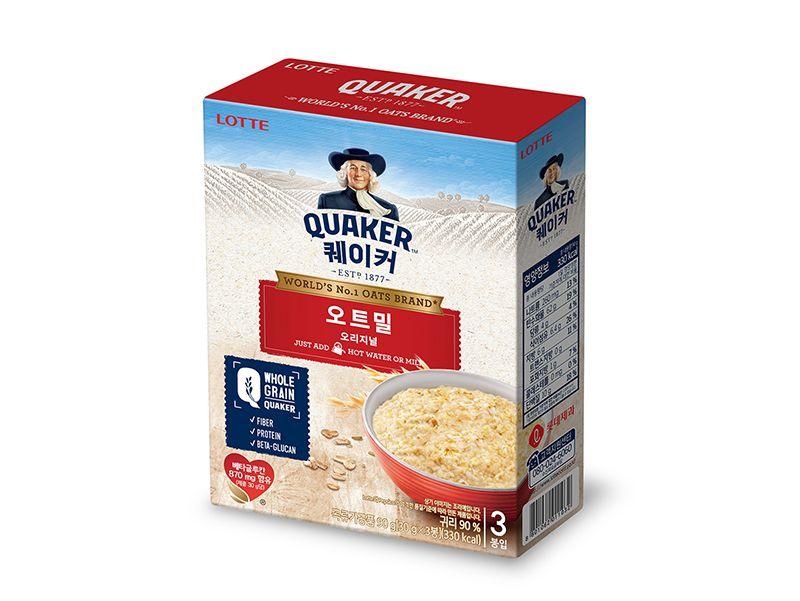미국인들이 아침에 먹는다는 오트밀이 바로 이겁니다
