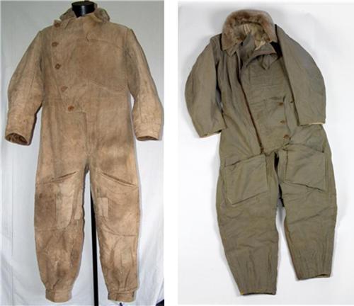 호주 공군 조종복. 우측은 제1차 세계대전기, 좌측은 1930년대의 것이다. /출처=https://www.historicflyingclothing.com/en-GB//ww1-r-f-c-sidcot-flying-suit/prod_13251#.W59ktqYzZhE