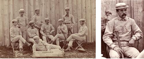 하바드대학 야구팀의 복장과 모자 /출처=https://sabr.org/gamesproj/game/october-7-1867-candy-cummings-debuts-curve