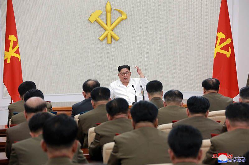 북한은 김정은 노동당 위원장이 주재한 가운데 당 중앙군사위원회 제7기 1차 확대회의가 열렸다고 지난 5월 18일 조선중앙통신이 보도했다. /사진=평양 조선중앙통신, 연합뉴스