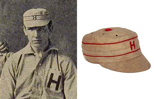 하바드대학 팀이 썼던 보스턴 스타일 야구모 /출처=http://www.sports-memorabilia-museum.com/baseball-history/caps.shtml