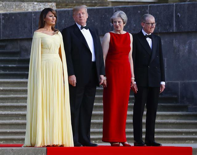 지난 7월 트럼프 대통령 영국 공식방문시