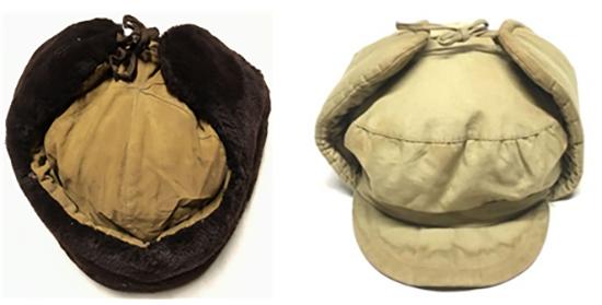중국군 동계 털모자(좌)와 솜 모자(우). /출처=https://enemymilitaria.com/product-category/headgear/caps-and-hats/