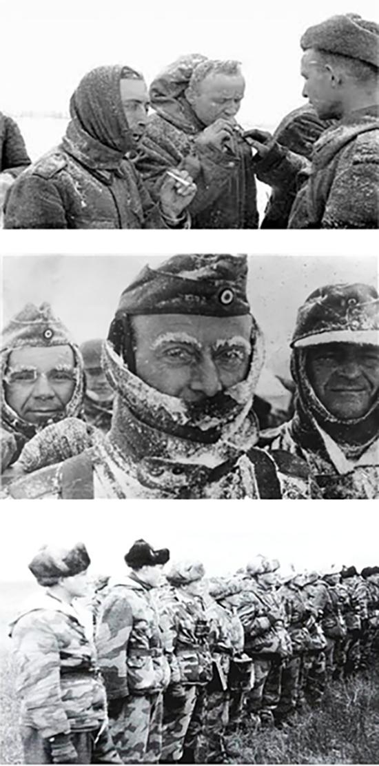 1941~1942년 겨울(상·중)과 1942~1943년 겨울(하)의 독일군 병사들. /출처=미 육군군사연구소