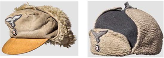 1942년 말 독일 공군이 쓰고 다니던 털모자. /출처=https://www.the-saleroom.com/en-us/auction-catalogues/hermann-historica-ohg/catalogue-id-srher10035/lot-d959ede8-0d51-4854-b222-a8b900bb3129