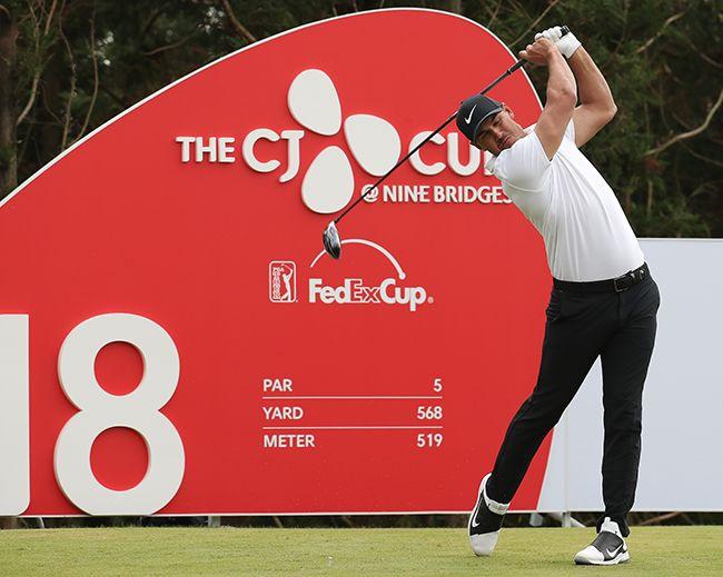 지난달 21일 제주 서귀포시 클럽 나인브릿지(파72)에서 열린 미국프로골프(PGA)투어