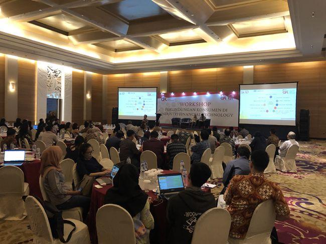 인도네시아 금융감독청이 핀테크 업계를 대상으로 주최한 소비자 보호 워크숍.