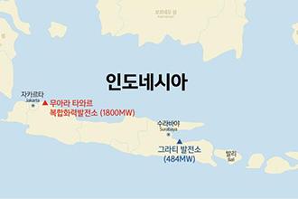 인도네시아 무아라 타와르 복합화력발전소 위치