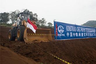 중국은 지난 2016년 일본을 따돌리고 수도 자카르타에서 제3도시 반둥까지 142㎞ 구간을 잇는 고속철 사업을 수주했다. 사진은 공사현장. <사진제공=연합뉴스>