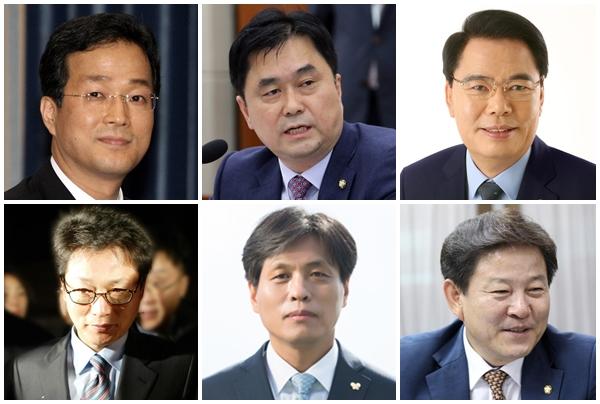 왼쪽부터 윤태영, 김종민, 백재현, 여택수, 조승래, 정재호