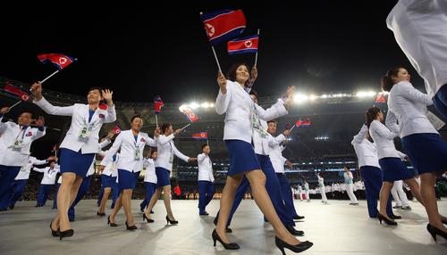 2014년 인천 아시안게임 개회식 북한 선수단 입장 모습. [사진=연합뉴스]