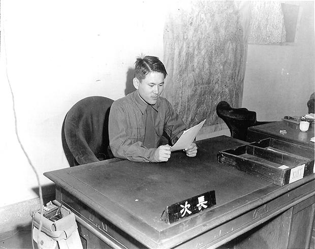 한국전 당시 젊은 모습의 이후락 전 중앙정보부장. 육군본부 정보국 차장으로 재직하던 1951년의 모습. [사진=매경DB]