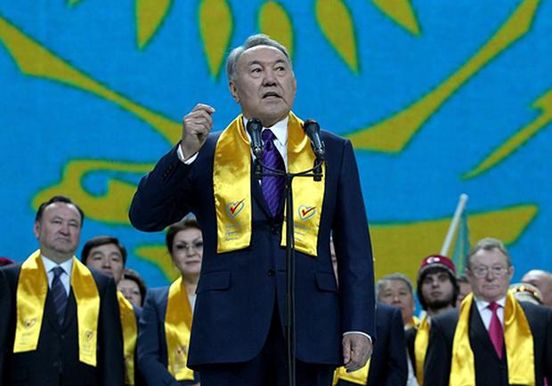 핵무기를 포기하면서 투자를 받았고 이는 경제성장의 밑거름이 됐다고 말한 누르술탄 나자르바예프 카자흐스탄 대통령 [연합뉴스]