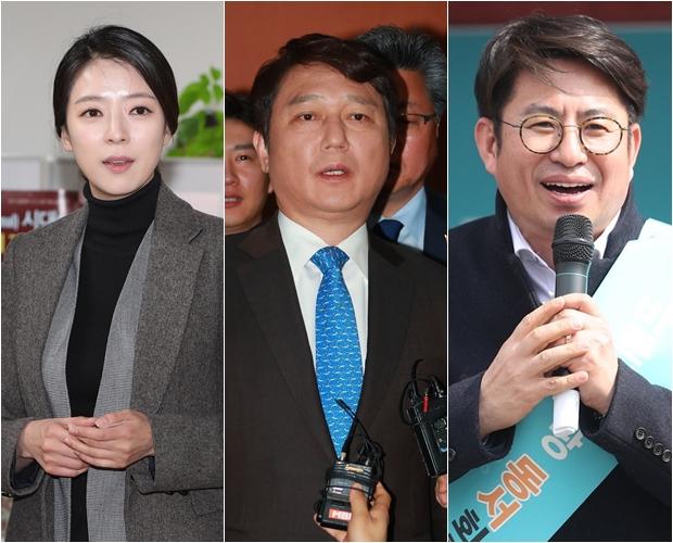 배현진 전 MBC 아나운서, 최재성 전 의원, 박종진 전 앵커[사진=연합뉴스]
