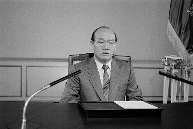1987년 4월 13일 전두환 전 대통령 개헌 관계 특별 담화 발표[사진=국가기록원]