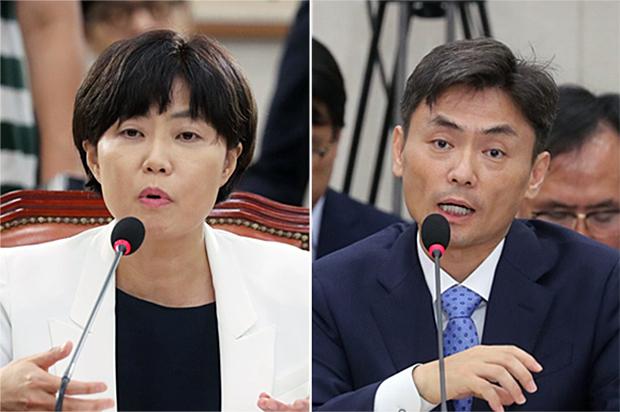 이유정 전 헌법재판소 재판관후보자, 박성진 전 중소벤처기업부 장관 후보자 [사진=연합뉴스]