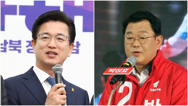 대전시장에 도전하는  허태정 더불어민주당 후보, 박성효 자유한국당 후보[사진=연합뉴스]