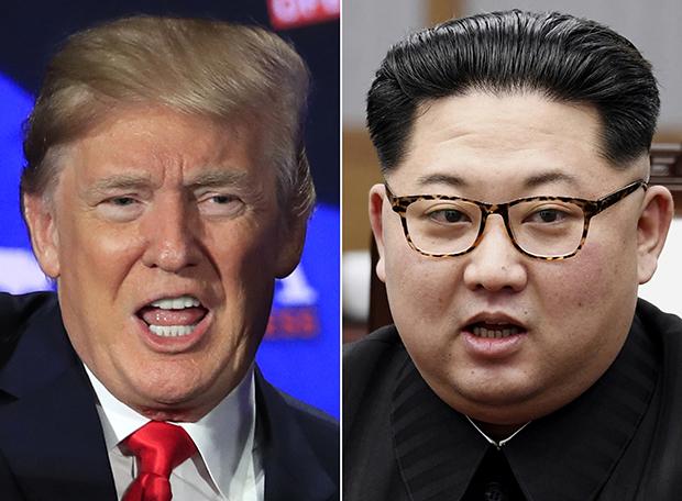 도널드 트럼프 미국 대통령(왼쪽)과 김정은 북한 국무위원장의 합성사진.[사진=연합뉴스]