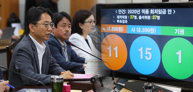 Korea's minimum wage increase significantly slowed to 2 9% for 2020
