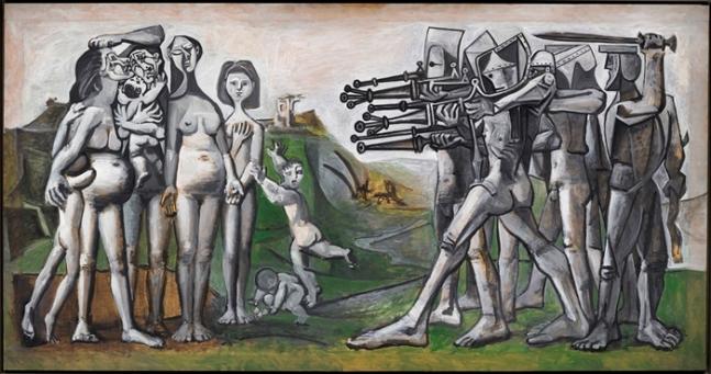 �H블로 �箝ゼ�, 한�v에�의 학살, 1951, �J판에 �화ⓒ 2021 - Succession Pablo Picasso - SACK (Korea)