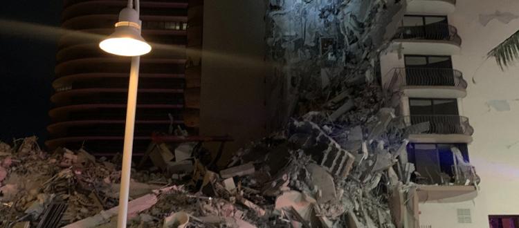 美 마이애미서 12층 짜리 건물 붕괴