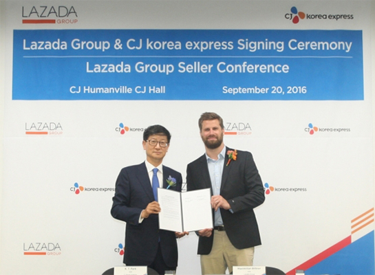 CJ Korea Express signs overseas delivery contract with