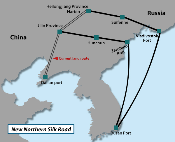 S  Korea-China-Russia seek to build a new trade route - 매일