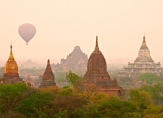 The sun sets over popular tourist destination Bagan, where United International Group operates hotels under the Amata brand.