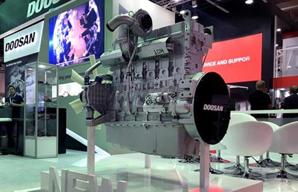 Doosan Infracore sports latest engine tech at power event in