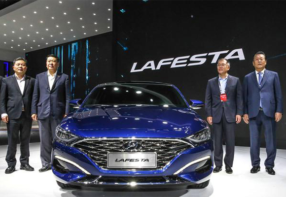 Hyundai Kia Unveil Chinafocused Sporty Sedans SUV At Beijing Auto - Hyundai car show