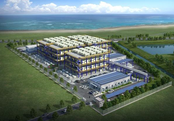 Daesan hydrogen fuel cell power plant rendering image. [Photo provided by Hanwha Energy]
