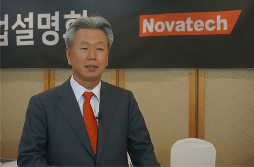 Novatech Co`s President CEO Oh Choon teak
