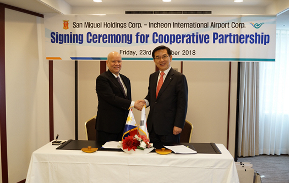 Incheon Int'l Airport to join San Miguel on developing new Manila