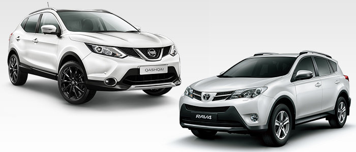 (Left) Nissan Qashqai and Toyota RAV4. [Photo by each company]