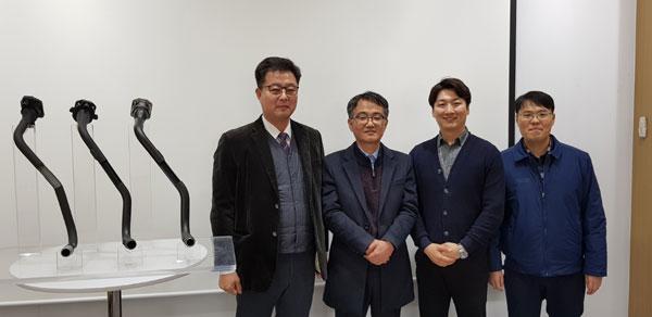 왼쪽부터 김기홍 전무이사, 류동열 수석연구원, 김현준 책임연구원, 김창한 책임연구원