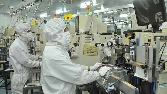 Semiconductor devices produced at Japan-invested Mtex Company. Viet Nam expects to receive more investment from Japan in the coming years. - Photo sggp.org.vn