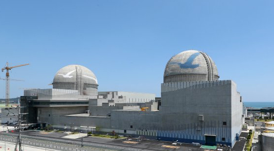 Pictured is the overview of the Shin Kori 3 and 4 reactors built on the third-generation pressurized water reactor 'APR1400' design. The Shin Kori 3 reactor came online in December 2016 and the operation of the Shin Kori 4 was licensed on February 1. [Photo by Korea Hydro and Nuclear Power]