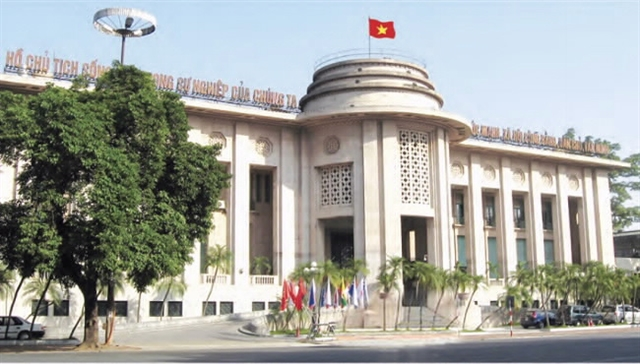 State Bank of Viet Nam`s headquarters in Ha Noi. Photo SBV
