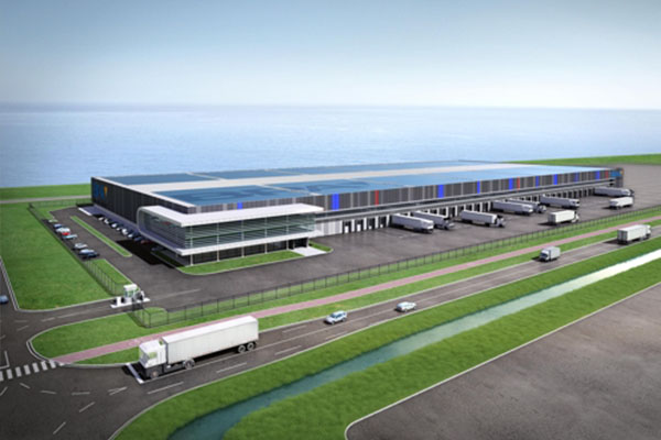 Rendering of Busan Port Authority`s logistics center to be built near Port of Rotterdam in the Netherlands [Image provided by Busan Port Authority]