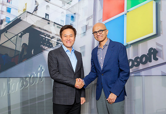 SK Telecom and Microsoft signed a memorandum of understanding on Joint Innovation Program in May. [Photo provided by SK Telecom]