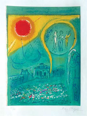 샤걀 `le carrousel du louvre 1954`.