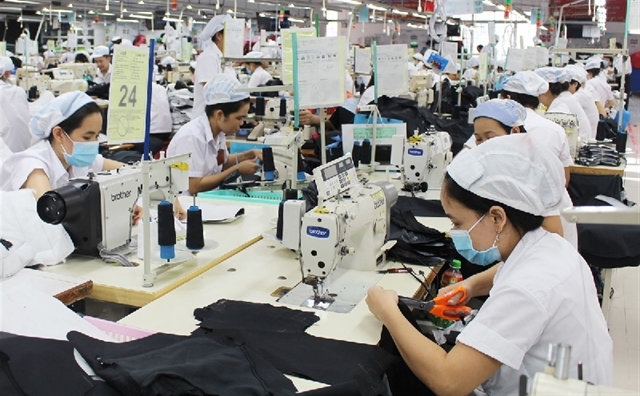 The country`s garment and textile sector earned $18 billion from exports, representing 8.61 per cent year-on-year increase. - Photo phapluatxahoi.vn