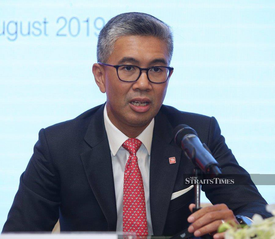 CIMB Group Holdings Bhd group chief executive officer Tengku Datuk Seri Zafrul Aziz says the banking group achieved 6.6 pct loan growth in the first six months of 2019. NST picture by Nur Adibah Ahmad Izam