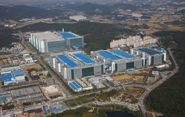 Samsung Display`s factory in Asan