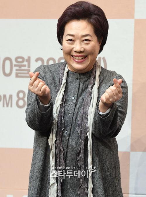 '꽃길만 걸어요' 제작발표회에 참석한 양희경. 사진| 유용석 기자