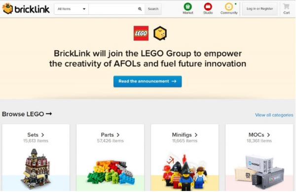 BrickLink Website
