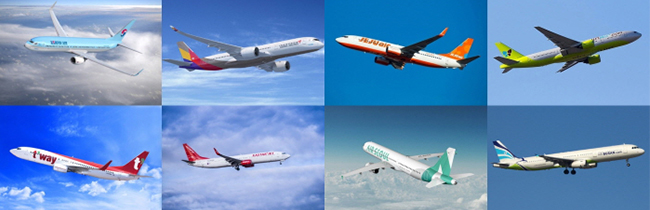 South Korea`s Low-cost carriers. [Photo by each company]