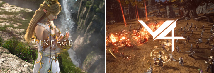 NCSoft`s Lineage 2M (left) and Nexon`s V4. [Images by each company]