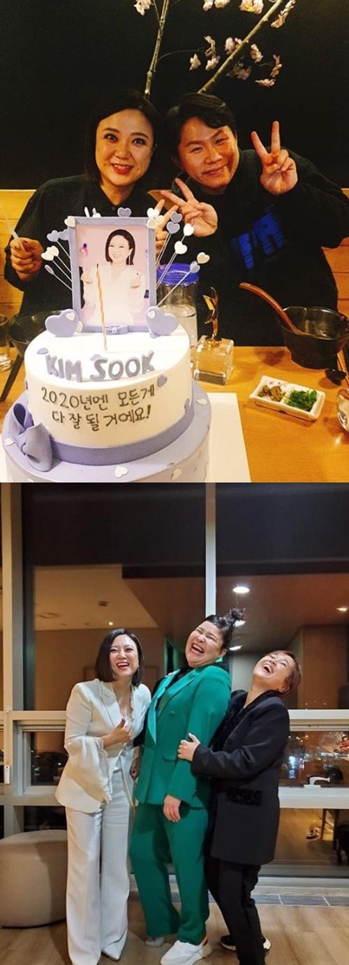 개그우먼 김숙, 이영자, 송은이, 개그맨 양세형 사진=김숙 SNS 캡쳐